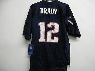 Tom Brady New England Patriots  Irregular Nfl Youth Small 8 Eqp Navy Jersey