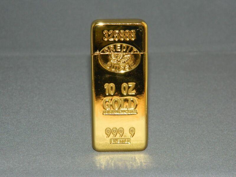 Ultra Thin Gold Bar Shaped Sophisticated Butane Lighter 999.9 USA Stock & Ship