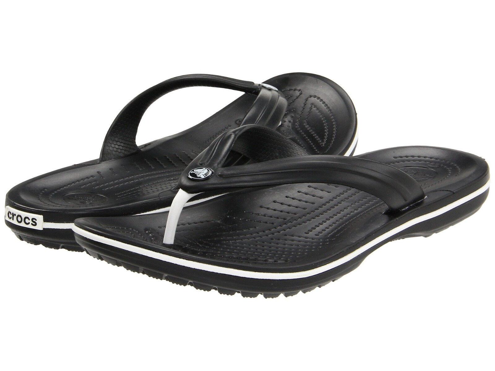 Men Crocs Crocband Flip Flop Sandal 11033-001 Black 100% Original Brand New