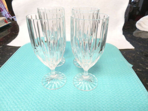 Mikasa Park Lane Footed Ice Tea Water Glasses (4)