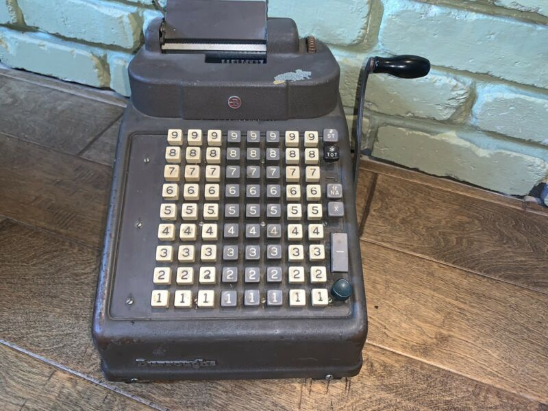 Vintage / Antique Authentic  ( Burroughs ) Vintage Adding Machine