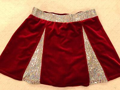 NAUGHTY SEXY HALLOWEEN COSPLAY WOMENS CHEERLEADER CHRISTMAS DANCE SHINY SKIRT  (Halloween Costumes Red Skirt)