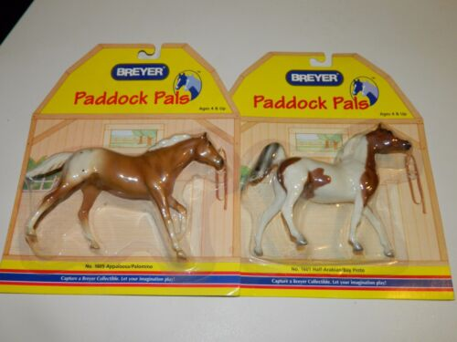 Breyer Paddock Pals #1601 & # 1605 NEW IN PACKAGE EXCELLENT!