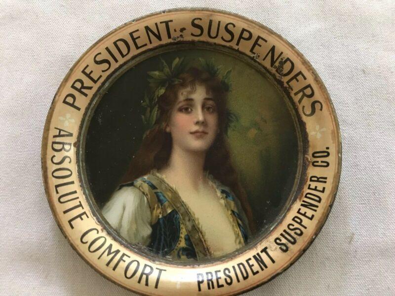 President Suspenders Absolute Comfort Vintage Tip Tray, President Suspender Co.