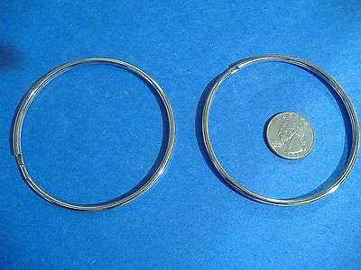 """TWO EXTRA LARGE LUCKY LINE 3"""" SPLIT KEY RINGS  HIGH QUALITY RINGS MADE IN USA"""