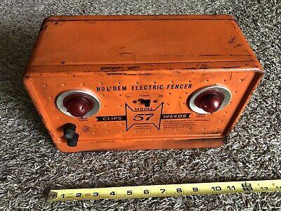 Vintage Holdem Electric Fencer Model 57 Orange Untested Sold As Is