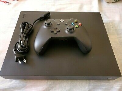 Xbox One X Console with Wireless Controller - Solid Black in excellent condition