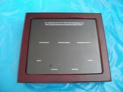 Münzkassette für Silbergedenkprägung zur Fußball-WM 2006 Deutschland, gebraucht