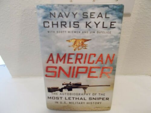Chris Kyle Autographed American Sniper Hard Cover Book Most Lethal Sniper