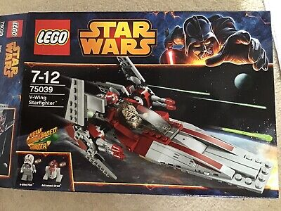 Lego 75039 Star Wars V-wing starfighter built once and back in box complete