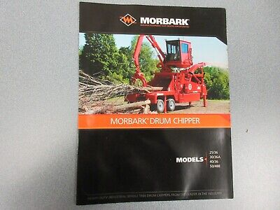 Morbark Drum Chipper 2536 3036a 4036 5048b Sales Brochure 6 Pages