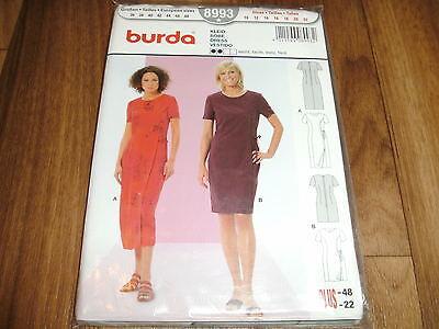 BURDA-PLUS Schnittmuster 8993                        2x  KLEID             36-48