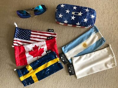 Oakley Gauge 6 + Oakley USA Flag Square O Hard Case + 5 Country Flag microbags, used for sale  Finland