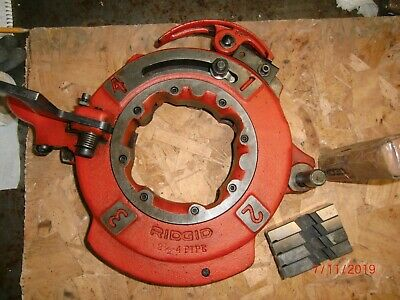 Ridgid Die Head Model 714 26152 For 2-12 To 4 Pipe New Dies 26192 For 1224