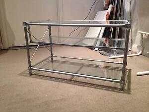 Ikea Metal Glass Entertainment TV Unit McMahons Point North Sydney Area Preview