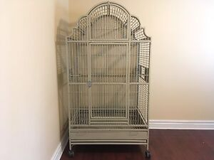 Large Victorian Top Bird Cage In Sandstone *Updated April 26*