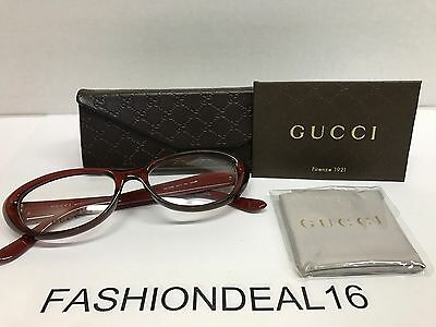 New GUCCI Authentic w/TAGS Cat Eye Red Gold GG3566 WC7 52mm Eyeglasses (Red Gucci Eyeglasses)