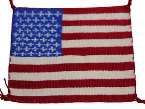 Della-Woody-American-Flag-Navajo-Hand-Woven-Rug-Mini-4-5-x-5-25
