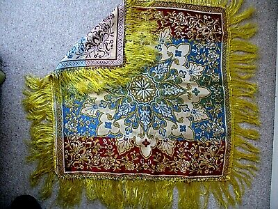 VINTAGE WOVEN TAPESTRY STYLE TABLE COVER 28
