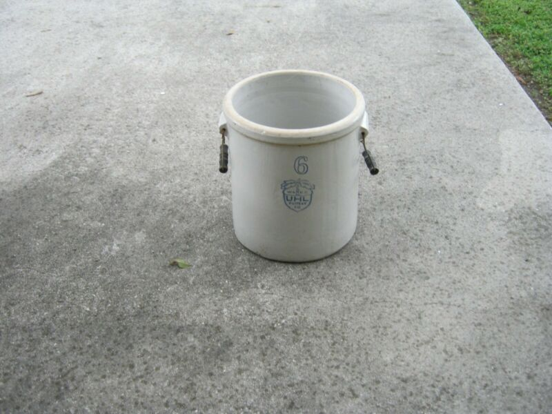 UHL Pottery Company 6 Crock ( 6 Gallon )