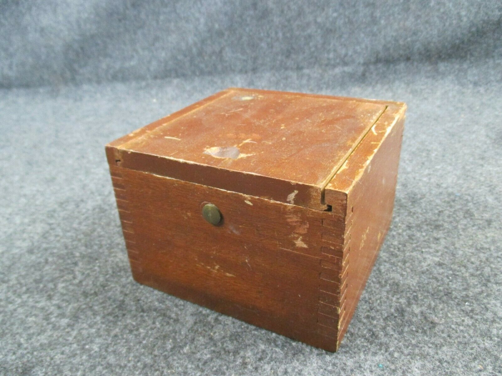 WWII ERA NAUTICAL Compass for US Coast Guard in Wood Case Brass Attaching Rail