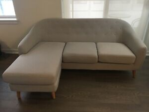 Sectional sofa - interchangeable - light grey