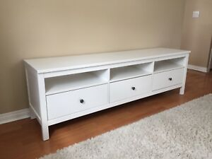 White Hemnes Bench / TV Stand