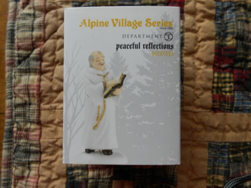 DEPT 56 ALPINE VILLAGE Accessory  PEACEFUL REFLECTIONS NIB