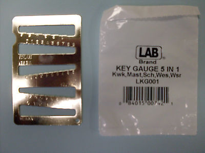 Lab 5 In 1 Key Gauge For Kwikset Schlage Weslock Weiser And Master Locks
