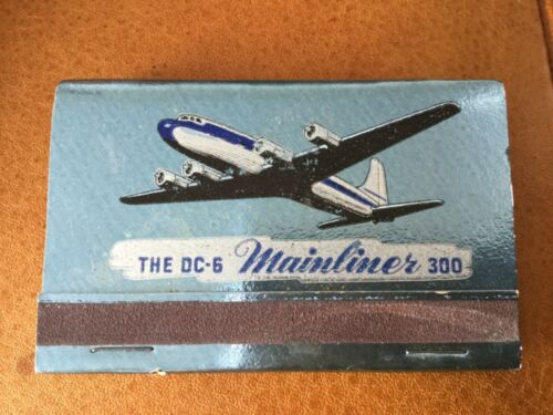 United Airlines DC-6 Mainliner 300 airplane matchbook
