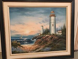 Lighthouse/shore painting
