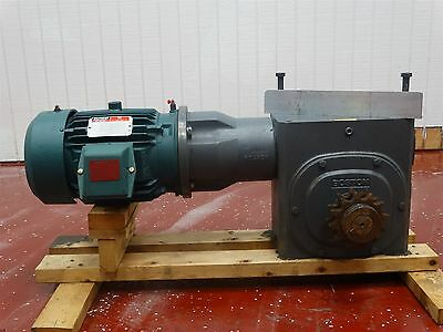Reliance Electric Motor P18G1124F 5HP 230/460V 12.2/6.1A1750RPM W/Boston Gearbox