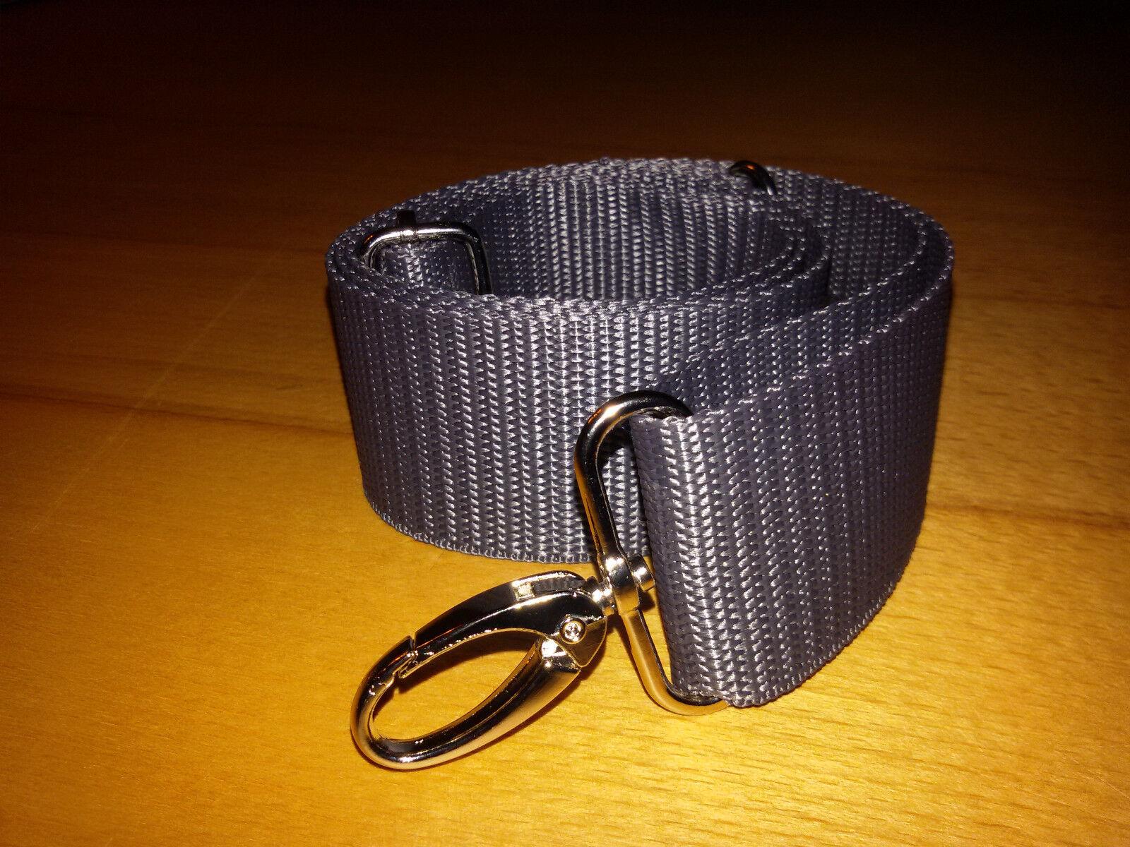 Schulterriemen Umhängetasche Schultergurt Handtasche Karabiner Gurtband 40 mm
