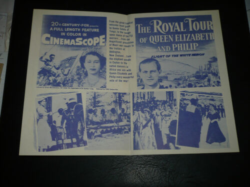 THE ROYAL TOUR OF QUEEN ELIZABETH AND PHILIP, orig NM folded herald [] - 1954