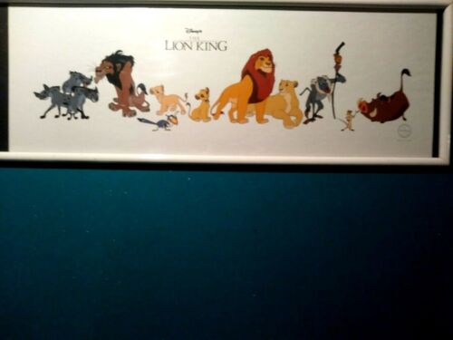 LION KING CAST OF CHARACTERS LIMITED EDITION SERICEL, NEW, WITH FRAME