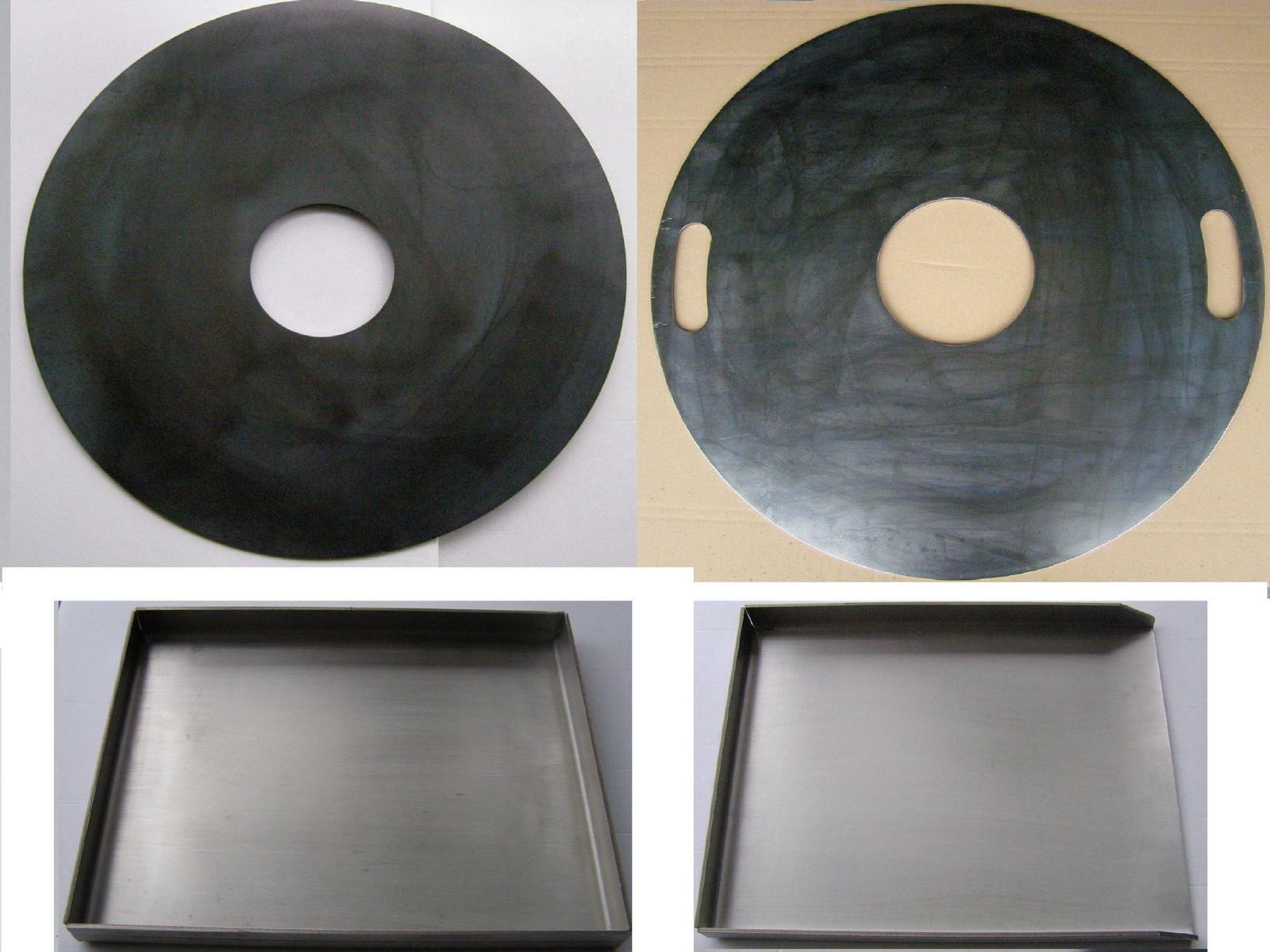 Feuerplatte 5 mm Tonne Feuerschale Stahl Plancha / Grillplatte fü Kugel Grill
