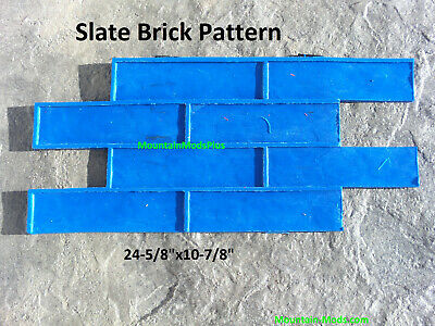 Slate Brick Pattern Decorative Concrete Cement Plaster Texture Stamp Mat New