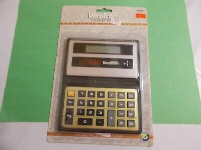 VeraTron Dual Power Calculators Folding Wallet 8-Digit Display