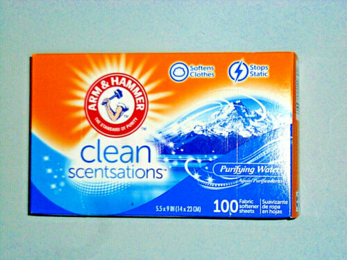 Arm And Hammer Scented Purifying Waters Dyer Sheets 1 Box of 100 Count.........