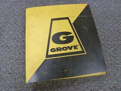 Grove Model Rt755 Rough Terrain Hydraulic Crane Parts Catalog Manual