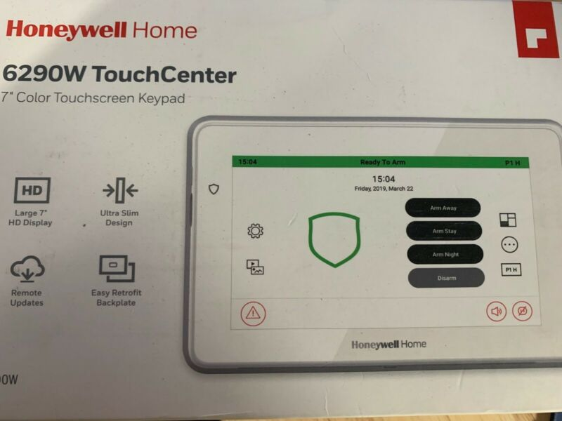 """Honeywell Resideo 6290W 7"""" Color Touchscreen Keypad with Voice annunciation"""