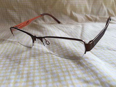 Charmant Ad Lib AB3201 50 17 140 Titanium Half Rim RX Eyeglasses