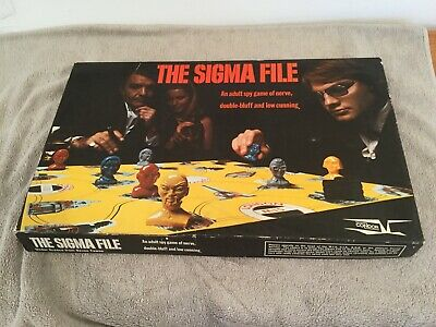 Vintage Condor The Sigma File Board Game ~ Adult Spy Game (Spy Sigma)