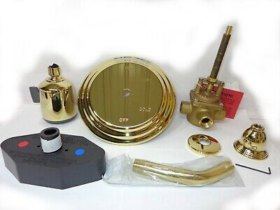 Set Pressure Balance (PlumbTrim Pressure Balance Shower Set  7004/01 Polished Brass )