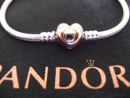 ROSE GOLD PANDORA BRACELET POUCH CLOTH BAG BRAND NEW HEART CLASP