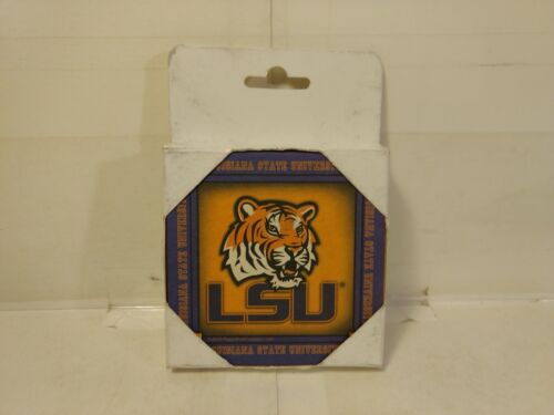 Paper Kraft Louisiana State University Tigers 8 Absorbent Drink Coasters  T3281