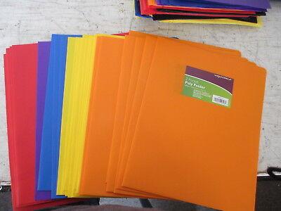 Wexford 2 Pocket Poly Folder Lot Of 14 Folders Assorted Colors