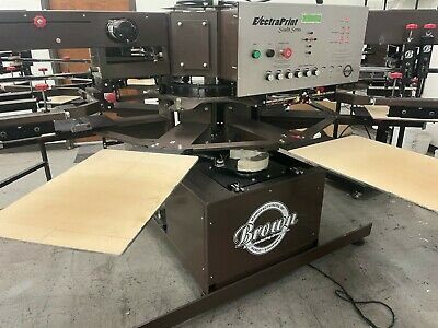 Brown Electraprint Automatic Textile Printer -screen Printing- 1 Years Old