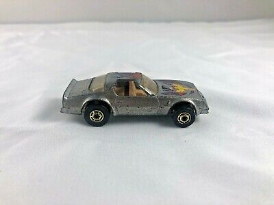 Vtg 1977 Hot Wheels Hot Bird Pontiac Trans Am Firebird Silver Flake RARE Malaysi