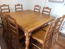 Square 8 Seat Dining Table & Chairs Emu Heights Penrith Area Preview